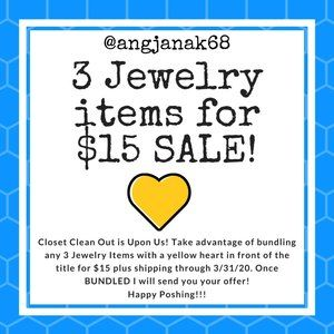 💛 3 Jewelry Items for $15 Sale!